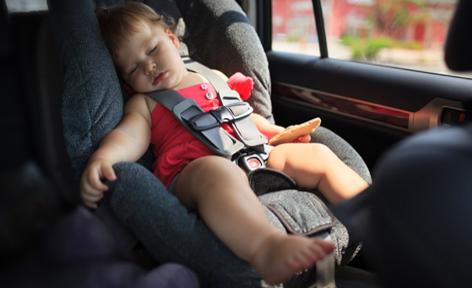 автокресло на переднем сиденье